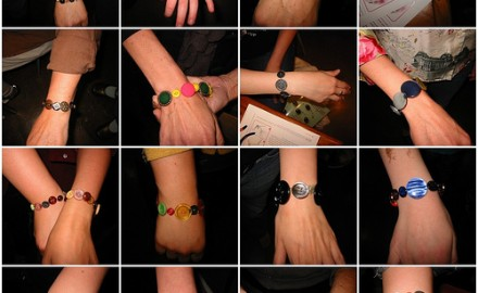 cute as a button bracelets at the CRAFT: party!