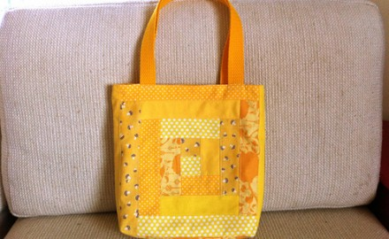 make it: patchwork tote bags