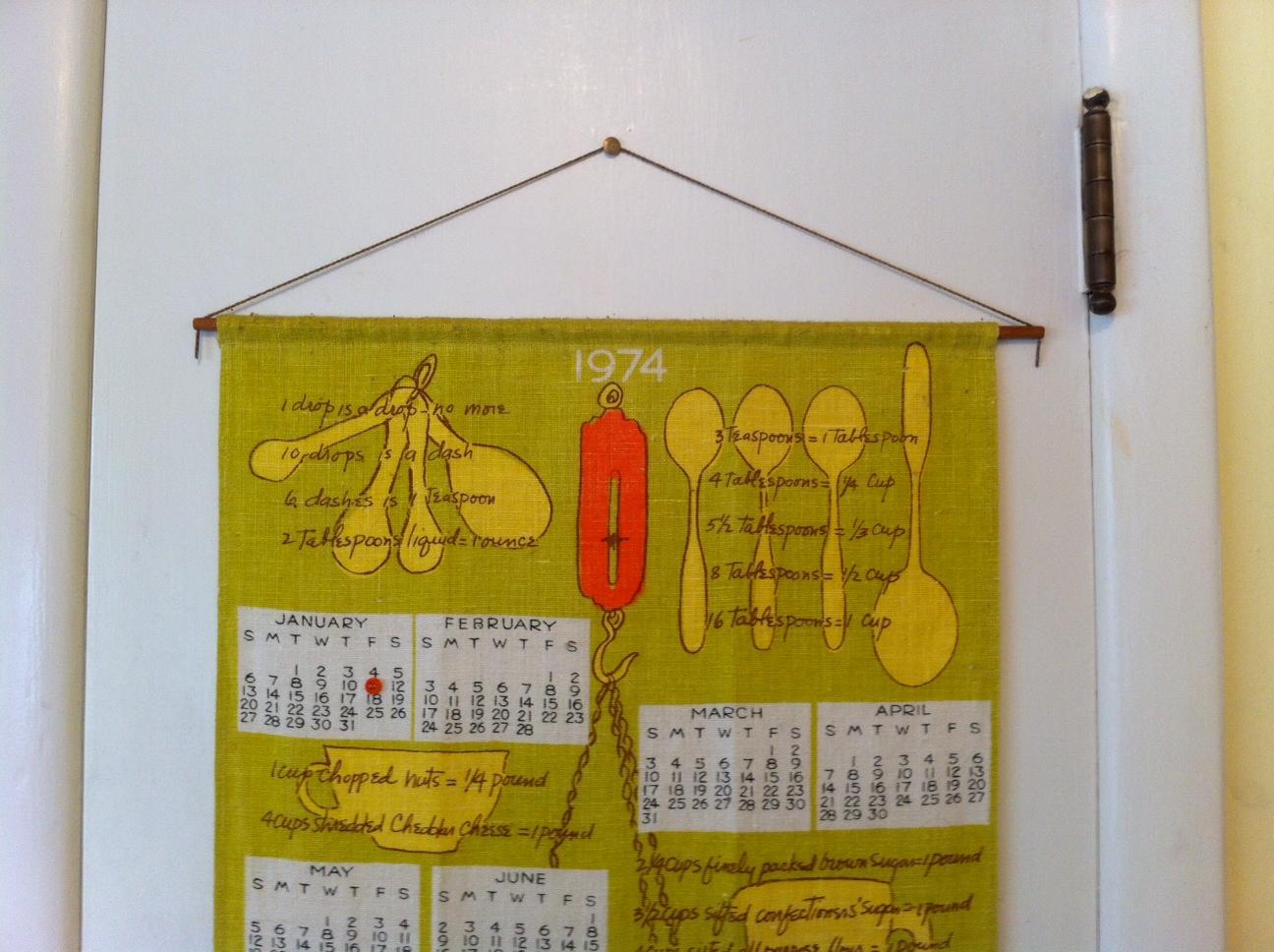 vera tea towel calendar