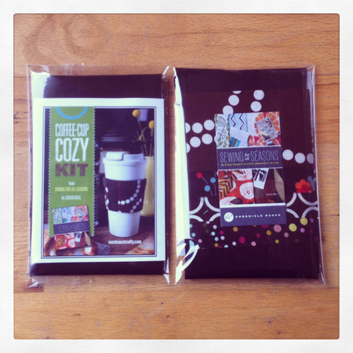 sewing for all seasons coffee cup cozy kits