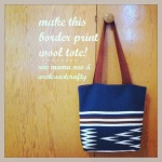 make it: border print wool tote!