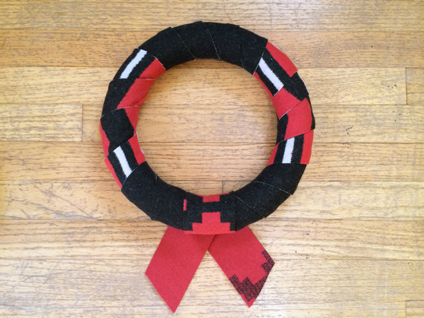 holiday wool wreath 11