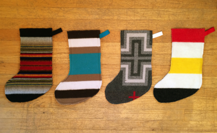 make it: wool Christmas stockings!