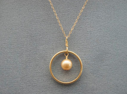 Wedding Ring Pendant - Susan Beal