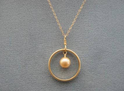 Wedding Ring Pendant - Susan Beal