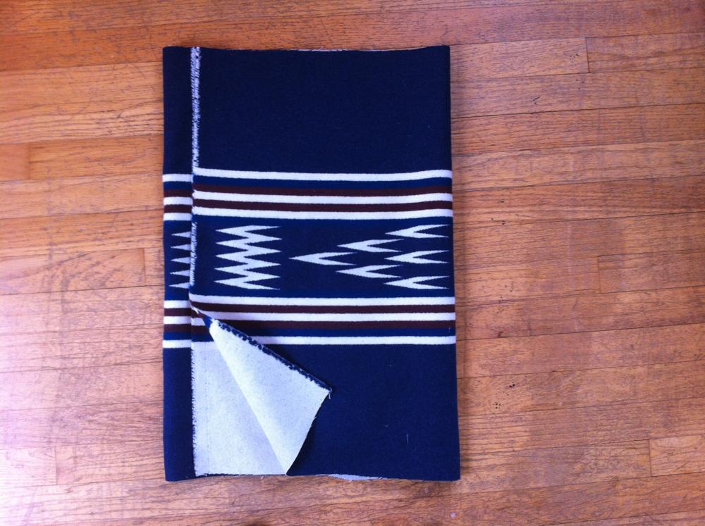 Border Print Wool Tote Tutorial 2