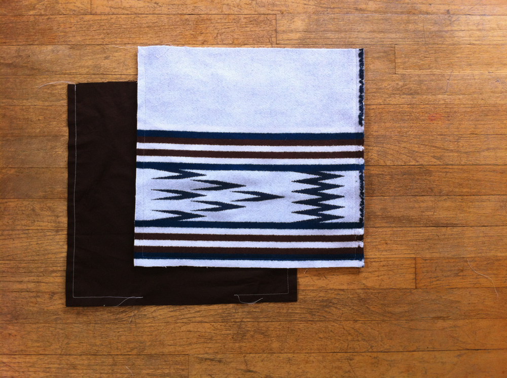 Border Print Wool Tote Tutorial 4