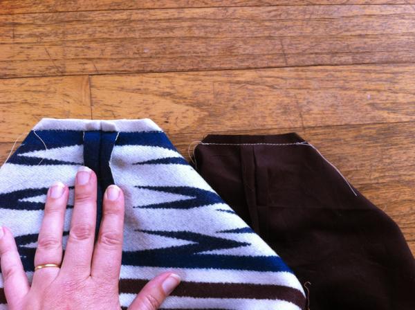Border Print Wool Tote Tutorial 6