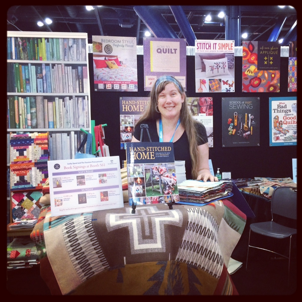 hand-stitched home signing at Market!