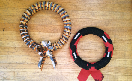 make it: holiday wool wreaths!