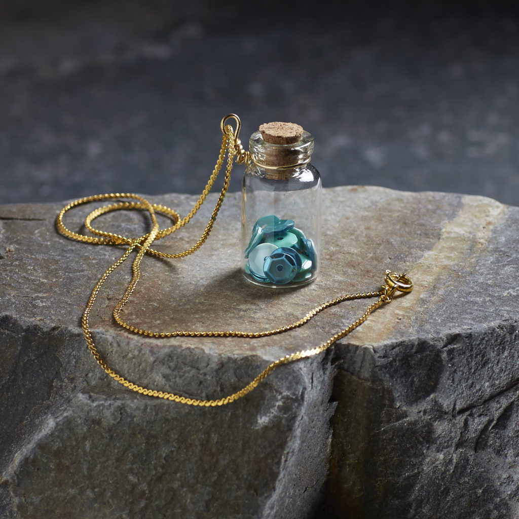 Bead Sparkle - sparkle jar pendant at Collage! - westcoastcrafty.com
