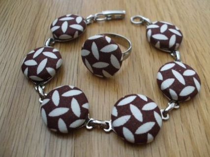 Covered Button Bracelet - Susan Beal