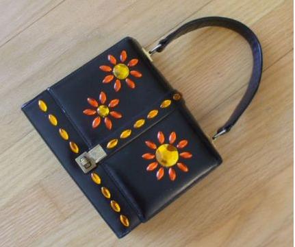 Sparkle Flowers Handbag - Susan Beal