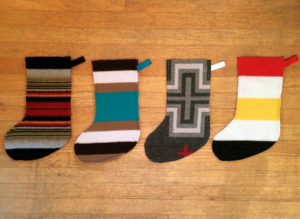 Pendleton Wool Christmas Stockings - Susan Beal