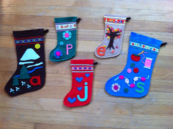 Christmas stockings by Susan Beal