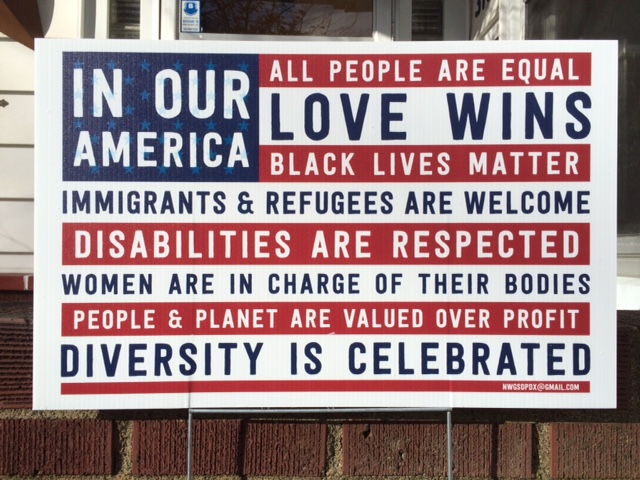 In Our America sign - NWGSDPDX